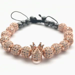 18k Rose Gold Crown Bracelet Full
