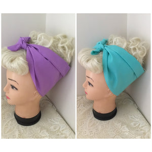 PLAIN - vintage inspired do-rags - various colours