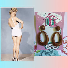 Load image into Gallery viewer, BIG BETTY - Bronze glitter hoops