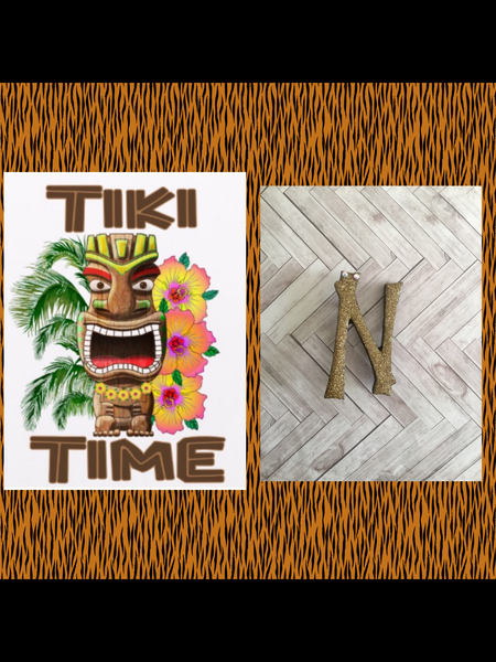 N .. TIKI font initial brooch ... exclusive design . More colours coming soon