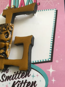 P - TIKI initial brooch exclusive design