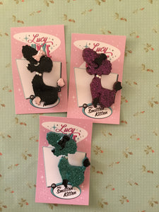 PENNY the poodle brooch - medium - various colours
