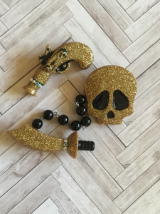 The pirate life ... triple bespoke brooch set ...gold