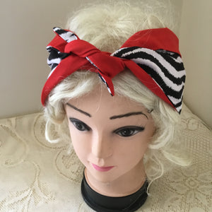 Zebra - vintage inspired do-rags