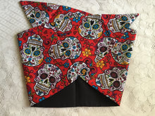 Load image into Gallery viewer, RED SUGARSKULL - vintage inspired do-rag