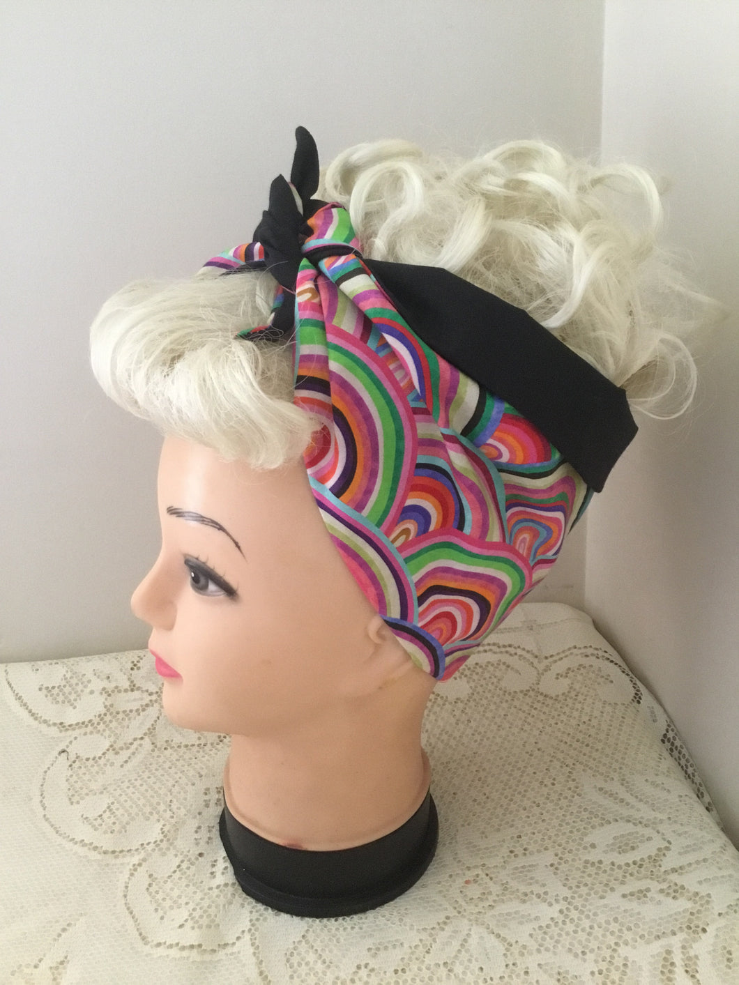 PSYCHEDELIC RAINBOW - Vintage inspired do-rags