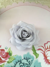 Load image into Gallery viewer, Beautiful flocked vintage style single roses - various colours