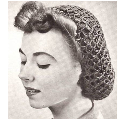 Vintage inspired hair snood ... various colours