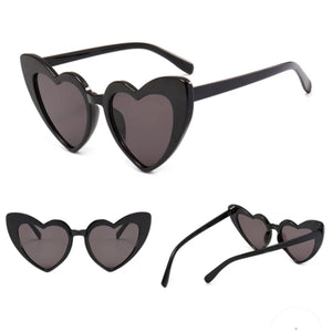 Heart sunglasses ...BLACK