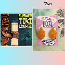 Load image into Gallery viewer, TEIA - tiki lounge earrings - Butterscotch
