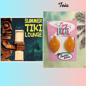 TEIA - tiki lounge earrings - Butterscotch