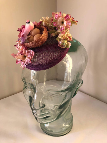 POLLY .. vintage inspired mini fascinator