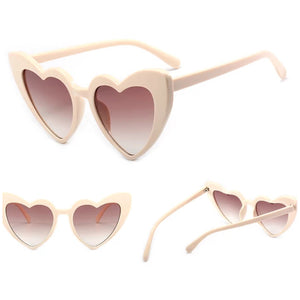 Heart sunglasses ...BEIGE 400UV