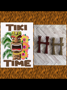 H .. TIKI font initial brooch ... exclusive design . More colours coming soon