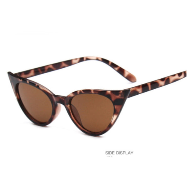 Leopard cat's eye sunglasses pointy tips