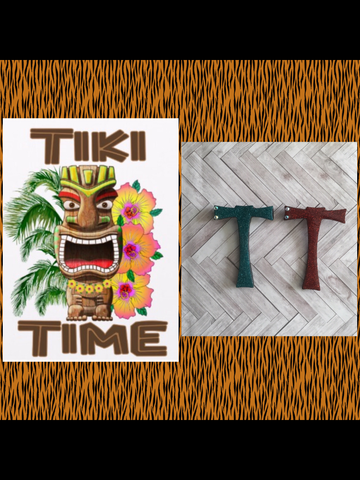 T .. TIKI font initial brooch ... exclusive design .. more colours coming soon
