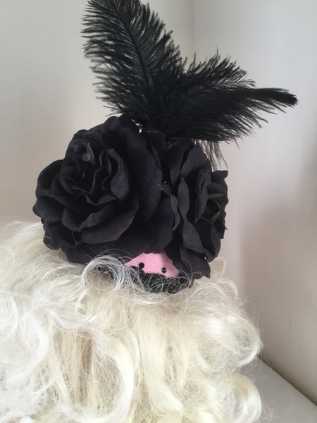 TIFFANY .. bespoke fascinator ..perfect for the races ... on sale