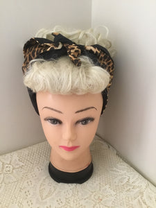 LEOPARD  - vintage inspired do-rags