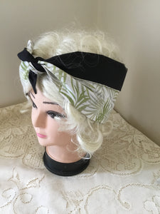 Fern print ... vintage inspired do-rag .. reversible hair scarf