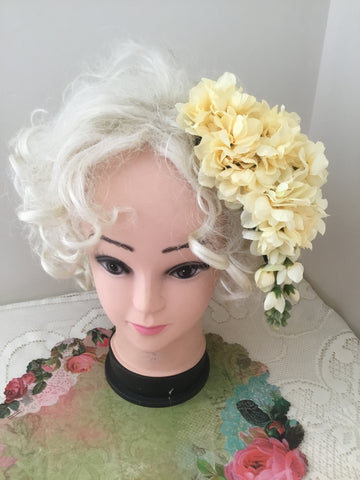 LOLA .. cascading cluster hairpiece .. LEMON