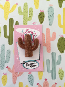 SOUTH OF THE BORDER - cactus 🌵brooch - various colours
