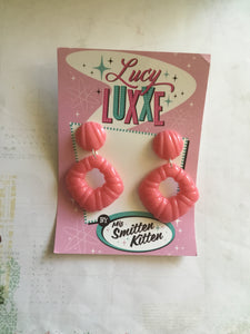 Dorothy earrings - pink - SECONDS