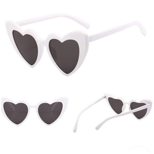 Heart sunglasses ...WHITE  400UV