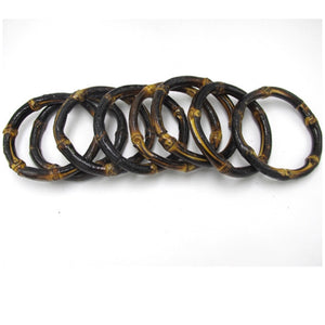 Dark brown bamboo bangle