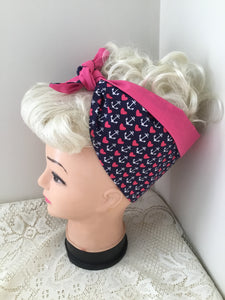 ANCHOR / HEART - vintage inspired do-rag