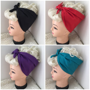 PLAIN- vintage inspired do-rags - various colours