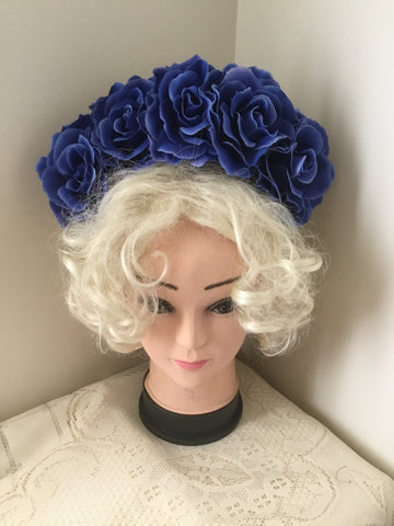 FRIDA .. blue rose flowercrown