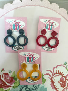 DOLLY -  hoop earrings - various colours
