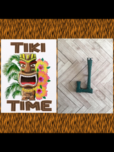 Load image into Gallery viewer, J - TIKI font initial brooch , exclusive design - various colours