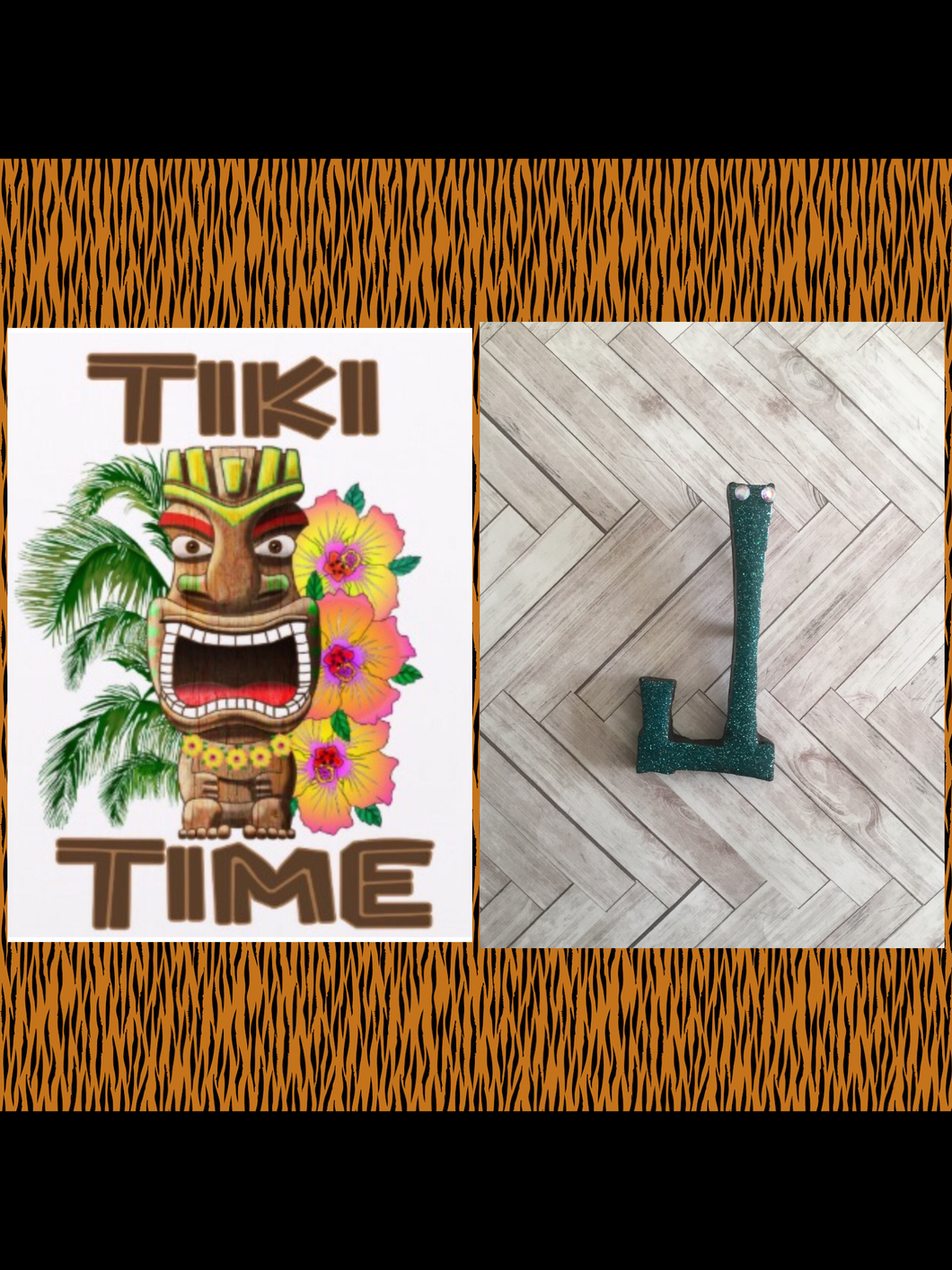 J - TIKI font initial brooch , exclusive design - various colours