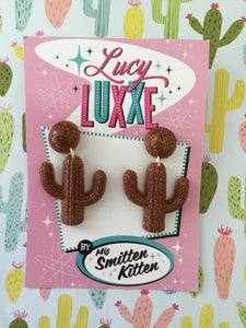 SOUTH OF THE BORDER - cactus 🌵earrings - bronze