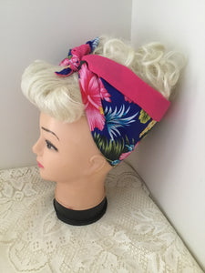 TROPICAL DELIGHT - Vintage inspired do-rag