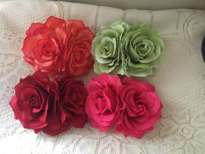 Double soft roses .. assorted colours