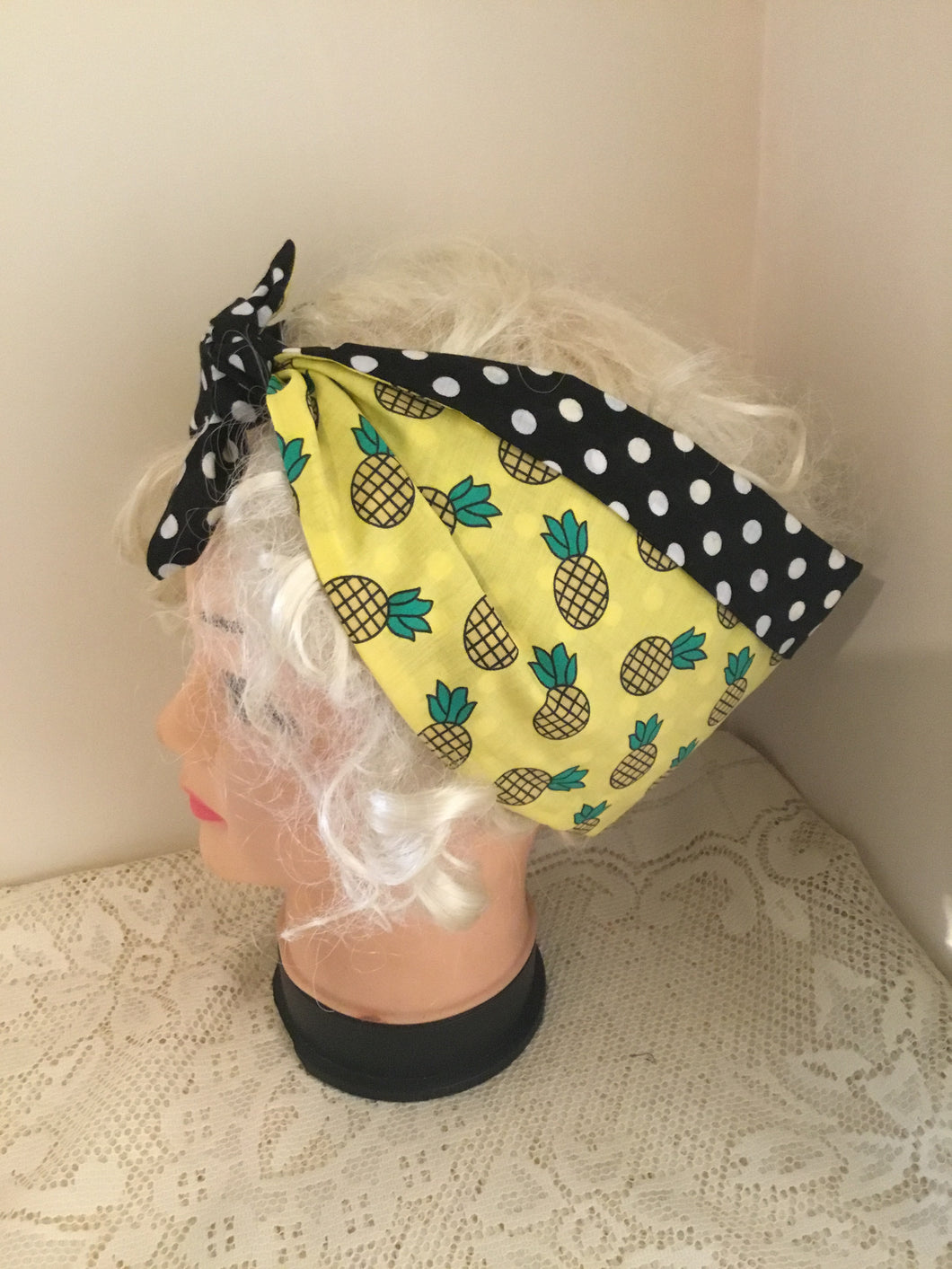 Pineapple - vintage inspired do-rag