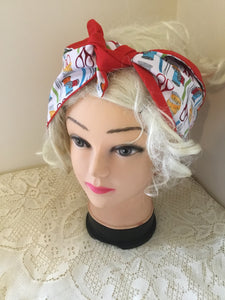 Sewing print - Vintage inspired do-rag