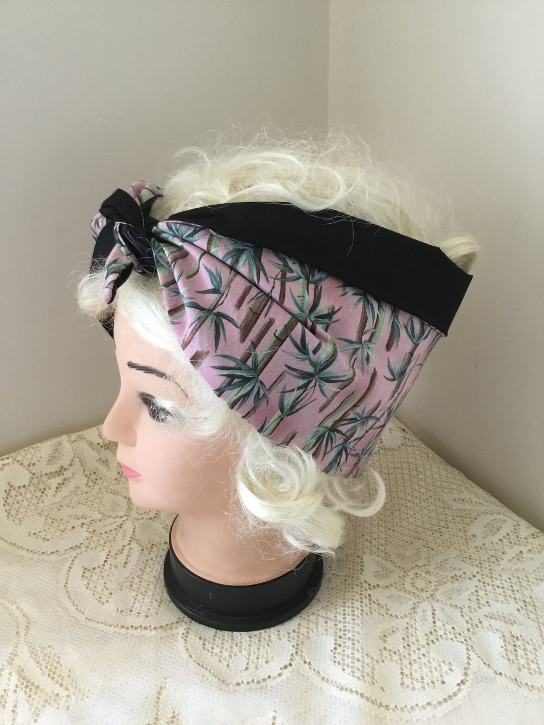 Bamboo print - vintage inspired do-rags