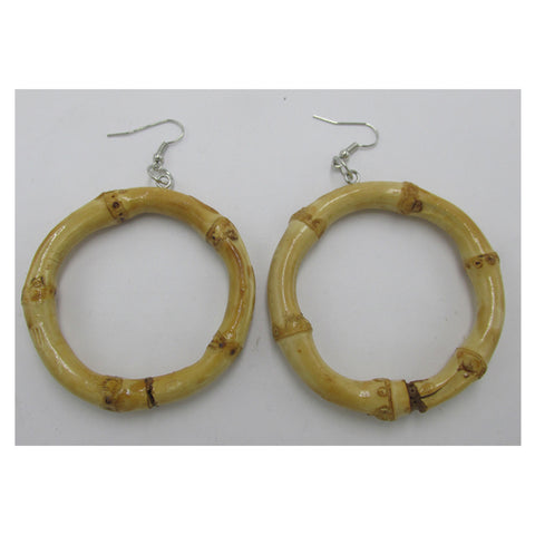 BIG bamboo hoops ... tiki inspired