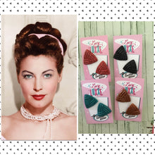 Load image into Gallery viewer, AVA - triangle stud earrings - various glitter  colours