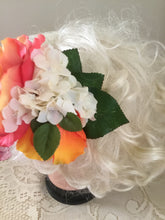 Load image into Gallery viewer, AMY - hair flower cluster - orange / ivory