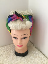 Load image into Gallery viewer, RAINBOW wide stripe - Vintage inspired do-rag  🌈  - pride