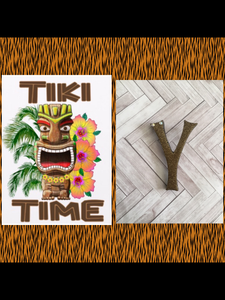Y ..TIKI font initial brooch ... exclusive design .. more colours coming soon