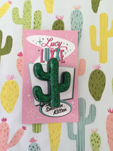 Load image into Gallery viewer, SOUTH OF THE BORDER - cactus 🌵brooch - green glitter