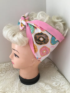 DONUT DELIGHT - vintage inspired do-rags
