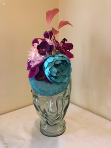 VASHTI - beautiful bespoke pillbox hat
