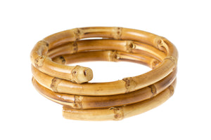 3 TIERED bamboo bangle - natural