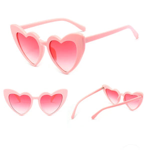 Heart sunglasses..PINK with Pink lens 400UV